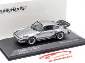 Porsche 911 (930) Turbo 3.3 Byggeår 1979 sølv 1:43 Minichamps