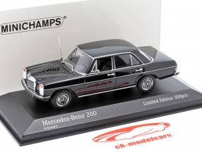 Mercedes-Benz 200D (W114/115) Byggeår 1968 sort 1:43 Minichamps