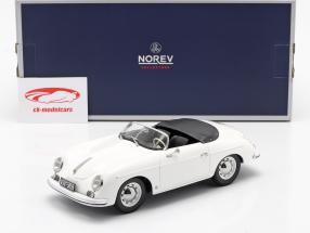 Porsche 356 Speedster Byggeår 1954 hvid 1:18 Norev