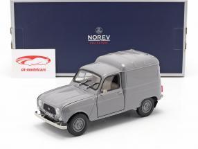 Renault 4 Fourgonnette Bouwjaar 1965 Grijs 1:18 Norev