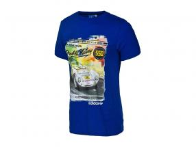 Porsche T恤衫 Porsche 550 双 胜利 1954 Adidas 蓝色