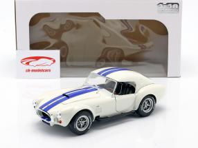 Shelby AC Cobra 427 Hardtop Bouwjaar 1965 Wit / blauw 1:18 Solido