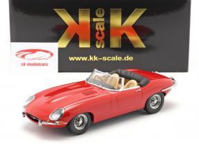 Jaguar E-Type Cabriolet Open Top Series 1 RHD 1961 rød 1:18 KK-Scale
