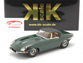 Jaguar E-Type Cabriolet Closed Top Series 1 RHD 1961 dark green 1:18 KK-Scale