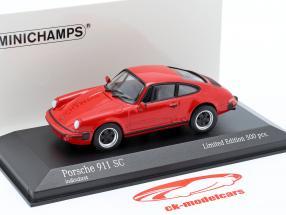 Porsche 911 SC Coupe Año de construcción 1979 rojo 1:43 Minichamps