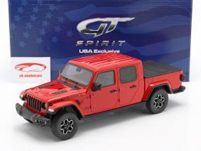 Jeep Gladiator Rubicon Byggeår 2019 firecracker rød 1:18 GT-Spirit