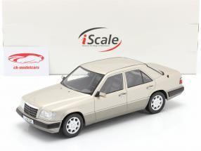 Mercedes-Benz Clase E (W124) Año de construcción 1989 plata ahumada 1:18 iScale