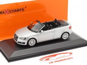 Audi A3 Cabriolet Año de construcción 2007 plata metálico 1:43 Minichamps