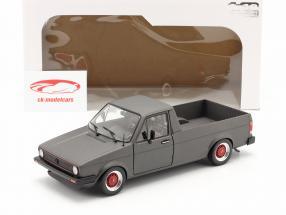 Volkswagen VW Caddy MK1 Custom II Bouwjaar 1982 mat donkergrijs 1:18 Solido