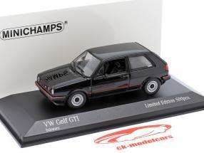 Volkswagen VW Golf II GTi Anno di costruzione 1985 nero 1:43 Minichamps