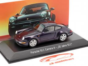 Porsche 911 Carrera 4 30 Años 911 púrpura metálico 1:43 Spark