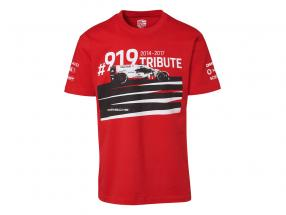T-Shirt Porsche 919 Tribute rød