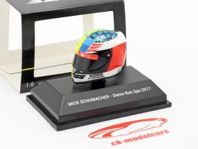 Mick Schumacher Benetton B194 #5 Demo Run GP Spa Formel 1 2017 Helm 1:8 Minichamps