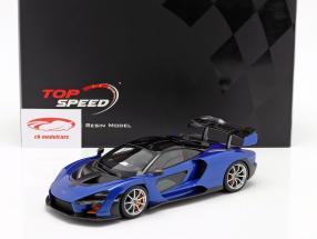 McLaren Senna Baujahr 2018 antares blau / schwarz 1:18 TrueScale