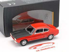 Ford Capri rood / zwart 1:43 Cararama