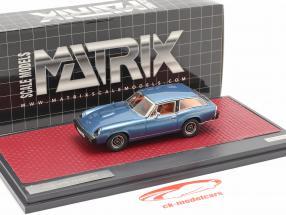 Jensen GT Ano de construção 1975-1976 azul metálico 1:43 Matrix