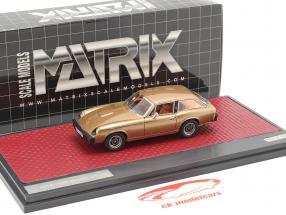 Jensen GT Anno di costruzione 1975-1976 oro metallico 1:43 Matrix