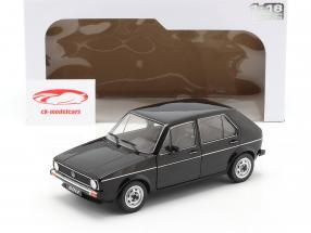 Volkswagen VW Golf L Byggeår 1983 sort 1:18 Solido
