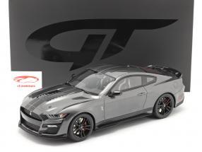 Ford Mustang Shelby GT500 Année de construction 2020 magnétique gris 1:12 GT-Spirit