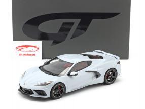 Chevrolet Corvette C8 Anno di costruzione 2020 grigio ceramica metallico 1:18 GT-Spirit