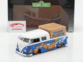 Volkswagen VW Bus PickUp 1963 Met Sesamstraat-figuur Koekje monster 1:24 Jada Toys
