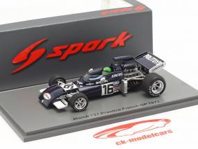 Henri Pescarolo March 721 #16 Øve sig Frankrig GP formel 1 1972 1:43 Spark