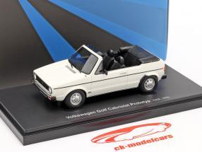 Volkswagen VW Golf 1 Cabriolet voorlopig ontwerp 1976 Wit 1:43 AutoCult