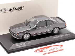 BMW 635 CSI (E24) Année de construction 1982 graphite gris métallique 1:43 Minichamps