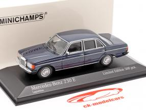 Mercedes-Benz 230E (W123) Anno di costruzione 1982 blu metallico 1:43 Minichamps