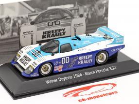 Março Porsche 83g #00 Vencedor 24 Daytona 1984 Kreepy Krauly Corrida 1:43 faísca