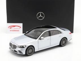 Mercedes-Benz S-klasse (V223) Byggeår 2020 højteknologisk sølv 1:18 Norev
