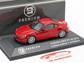 Subaru BRZ STI tS año 2013 rojo 1:43 Triple 9