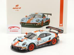 Porsche 911 GT3 R #20 gagnant 24h Spa 2019 Dirty Race Version 1:18 Spark