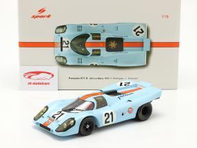Porsche 917K Gulf #21 24h LeMans 1970 Rodriguez, Kinnunen 1:18 Spark