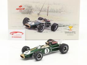 Jack Brabham Brabham BT24 #3 gagnant français GP formule 1 1967 1:18 Spark