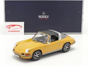 Porsche 911 S Targa Année de construction 1973 or métallique 1:18 Norev