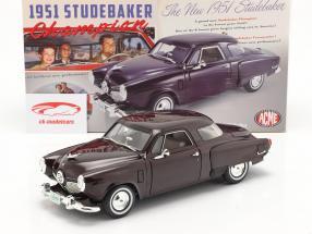Studebaker Champion year 1951 black cherry 1:18 GMP