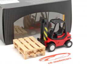 Carrello elevatore Camion rosso / nero 1:43 Cararama
