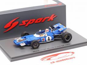 J. Stewart Matra MS80 #4 Vencedora holandês GP Fórmula 1 Campeão mundial 1969 1:43 Spark