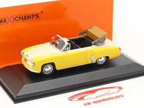 Wartburg 311 Cabriolet year 1958 yellow / white 1:43 Minichamps