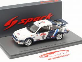 Ford Sierra RS Cosworth #12 5. plads Rallye Tour de Corse 1988 Sainz, Moya 1:43 Spark