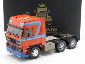 DAF 3600 SpaceCab Caminhão Ano de construção 1986 laranja / azul 1:18 Road Kings