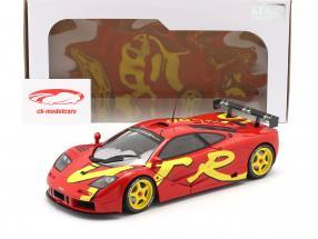 McLaren F1 GTR Byggeår 1996 rød / gul 1:18 Solido