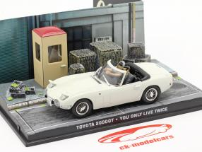 Toyota 2000GT James Bond You only live twice (1967) Med tegn 1:43 Ixo