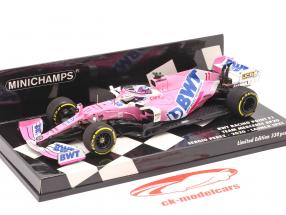 Sergio Perez Racing Point RP20 #11 Launch Spec formule 1 2020 1:43 Minichamps