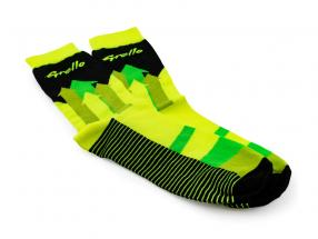 Manthey-Racing Sokker Grello 911 gul / grøn størrelse 38-42