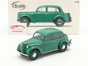 Moskvich 400 Anno di costruzione 1946 verde 1:18 iScale
