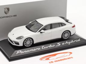 Porsche Panamera Turbo S e-hybrid Anno di costruzione 2016 bianca 1:43 Minichamps