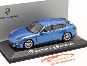 Porsche Panamera 4S Diesel blå metallisk 1:43 Minichamps