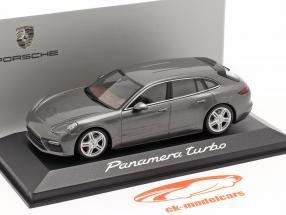 Porsche Panamera Turbo grijs metalen 1:43 Minichamps